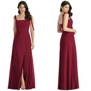 Dessy Collection Shoulder Tie Chiffon Dress Size 8
